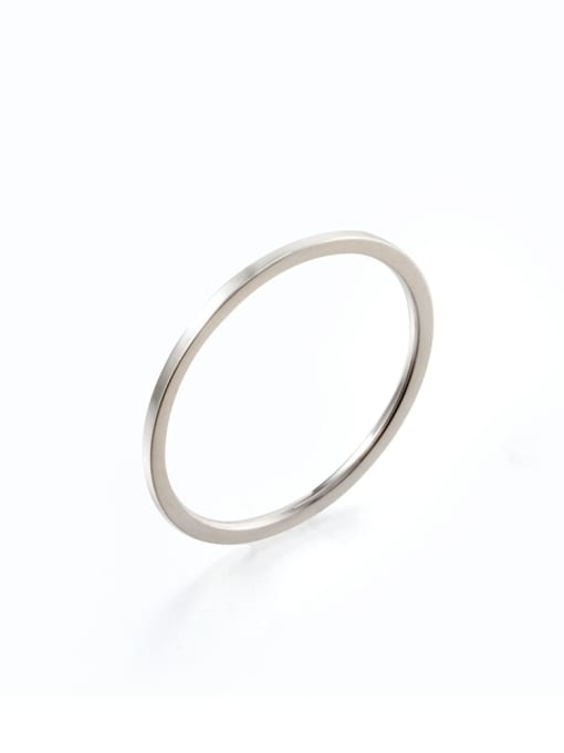 Steel color Titanium Steel Round Minimalist Band Ring