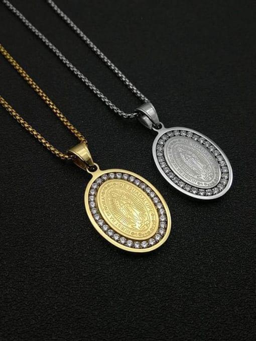 HI HOP Titanium Steel Religious Vintage Necklace 0