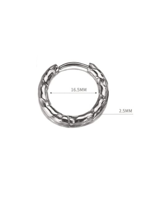 WOLF Titanium Steel Geometric Hip Hop Single Earring (Single) 3
