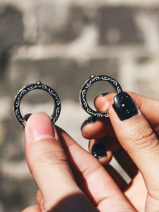 WOLF Titanium Steel Round Minimalist Band Ring 3
