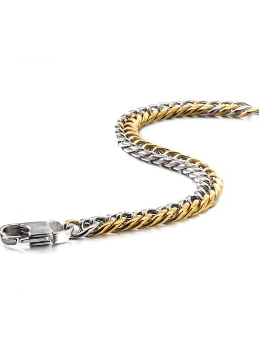 WOLF Titanium Steel Irregular Hip Hop Link Bracelet 3