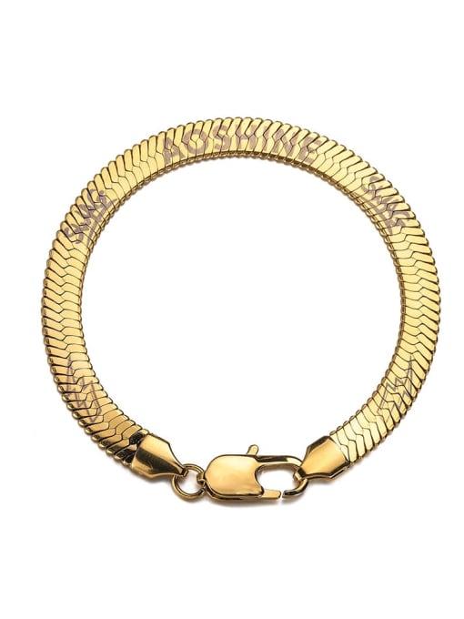 18cm (gold) Titanium Steel Snake bone chain Vintage Link Bracelet