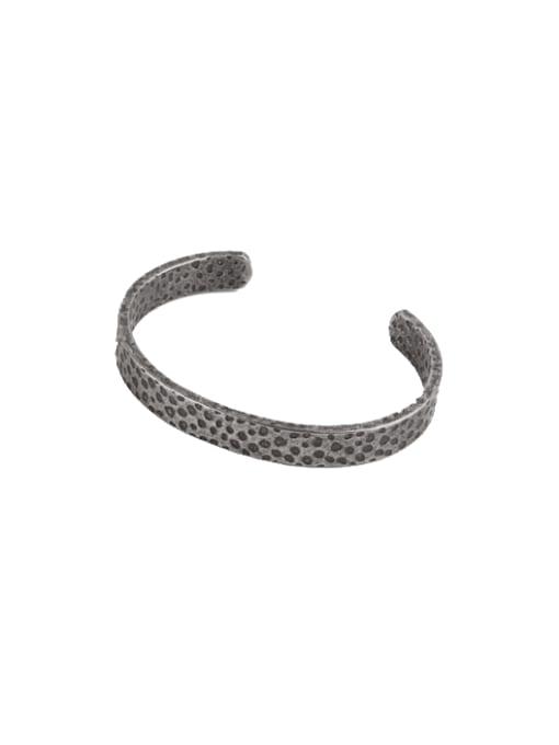 Ancient Titanium Steel Round Vintage Cuff Bangle