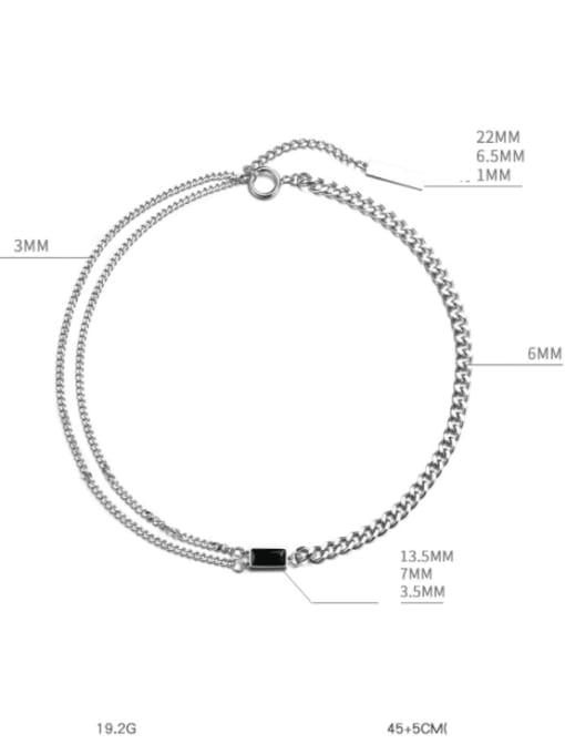 WOLF Titanium Steel Geometric Hip Hop Necklace 2