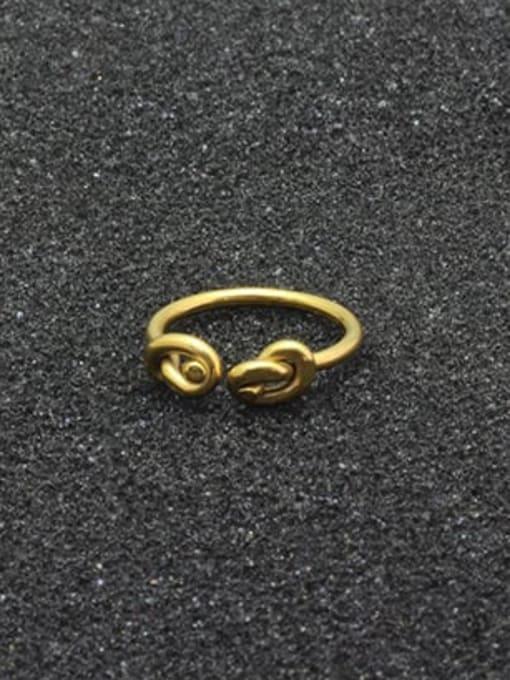 WOLF Titanium Steel Bowknot Vintage Band Ring