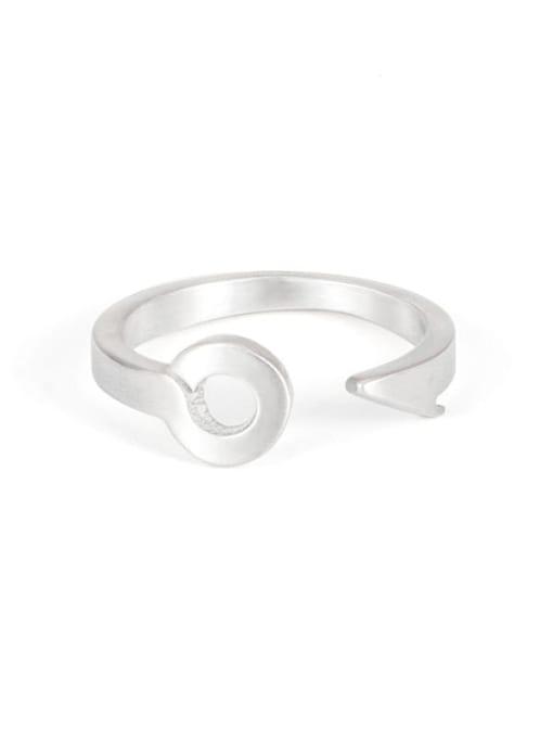 Steel color Titanium Steel Irregular Hip Hop Band Ring