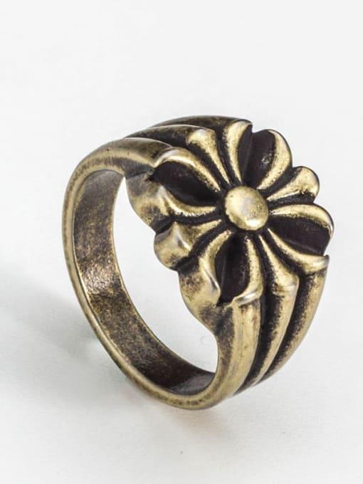 Bronze Titanium Steel Irregular Vintage Band Ring