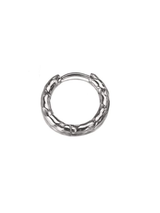 WOLF Titanium Steel Geometric Hip Hop Single Earring (Single) 0