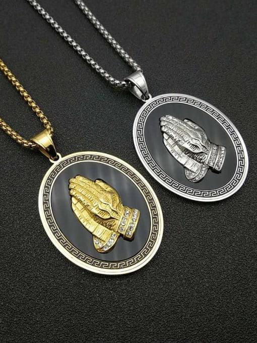 HI HOP Titanium Steel Religious Vintage Regligious Necklace