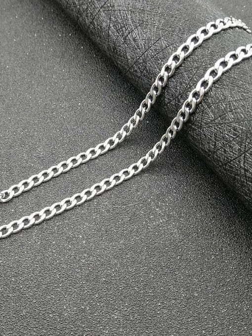 steel:4.4mm*61cm Titanium Steel Geometric Hip Hop Cable Chain