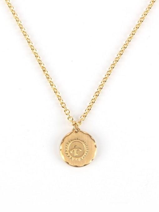 Gold (chain length 71cm) Titanium Steel Geometric Hip Hop Necklace