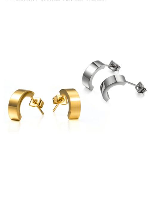 WOLF Titanium Steel Geometric Minimalist Stud Earring