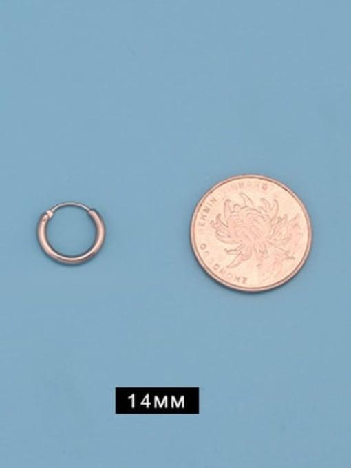 Outer diameter 14mm (one pair) Titanium Steel Round Minimalist Huggie Earring