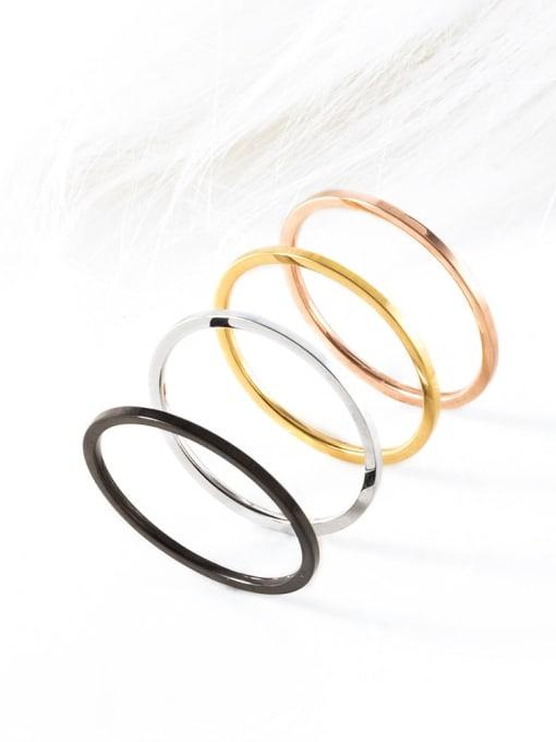 WOLF Titanium Steel Round Minimalist Band Ring 1