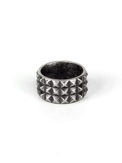 Ancient Titanium Steel Irregular Vintage Band Ring