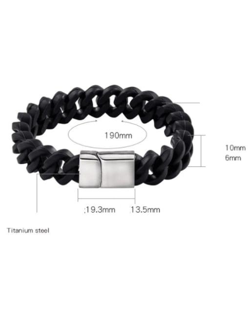 WOLF Titanium Steel Geometric Vintage Link Bracelet 2