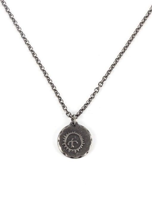 Antique (chain length 71cm) Titanium Steel Geometric Hip Hop Necklace