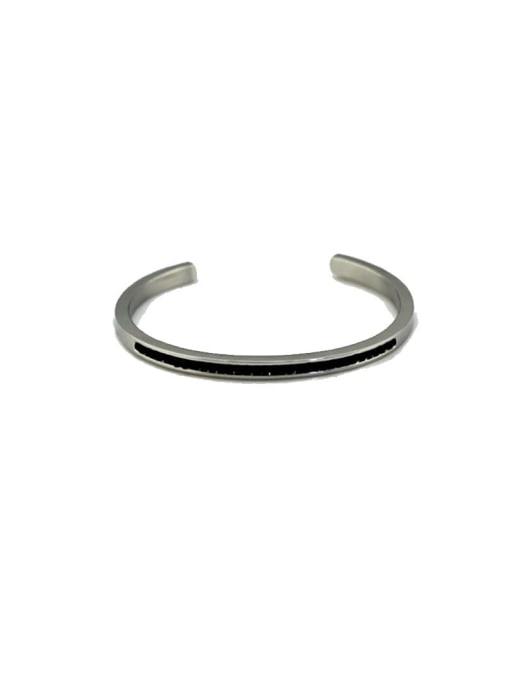 Steel Titanium Steel Oval Hip Hop Cuff Bangle
