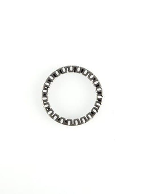 Small U-shaped ring, antique  (size 8) Titanium Steel Geometric Vintage Band Ring