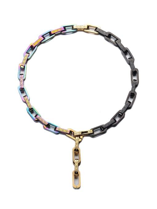 WOLF Titanium Steel Hollow Geometric Hip Hop Necklace