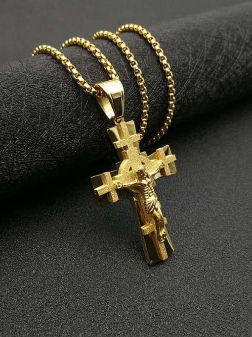 HI HOP Titanium Steel Cross Vintage Regligious Necklace 3