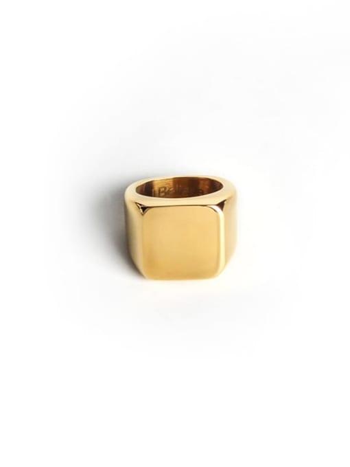 golden Titanium Steel Geometric Minimalist Band Ring