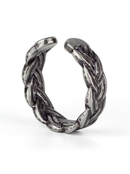 Antique(size 8) Titanium Steel Irregular Ethnic Band Ring