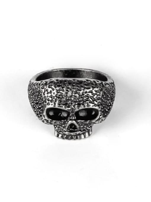 Ancient Titanium Steel Skull Vintage Band Ring