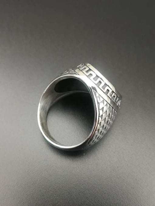 HI HOP Titanium Steel Cross Hip Hop Band Ring 2