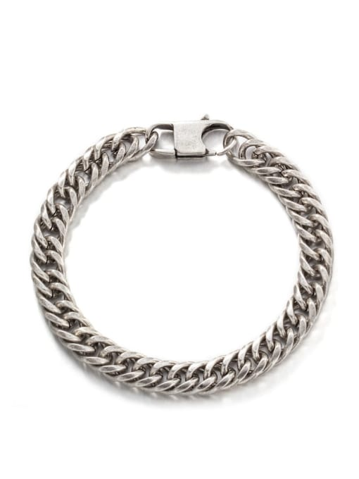 Vintage color (8mm*19cm) Titanium Steel Irregular Hip Hop Link Bracelet
