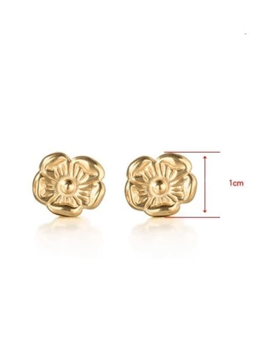 WOLF Titanium Steel Flower Minimalist Stud Earring 2