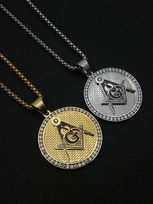 HI HOP Titanium Steel Religious Vintage Necklace