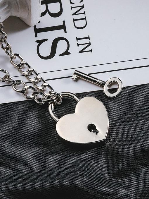 WOLF Titanium Steel Heart Hip Hop Necklace 2