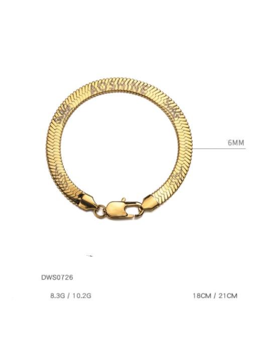 WOLF Titanium Steel Snake bone chain Vintage Link Bracelet 3
