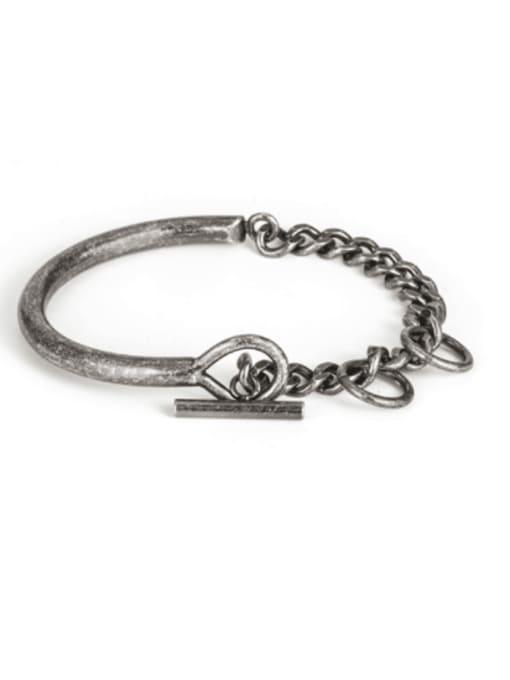 WOLF Titanium Steel Irregular Vintage Link Bracelet 1
