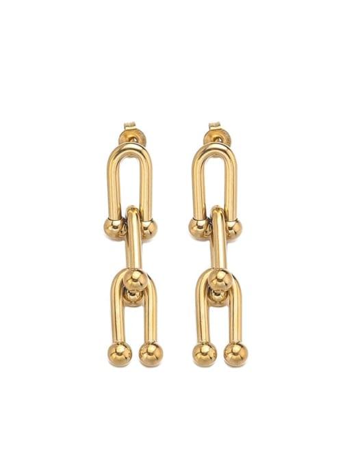 Gold Titanium Steel Geometric Minimalist Chandelier Earring