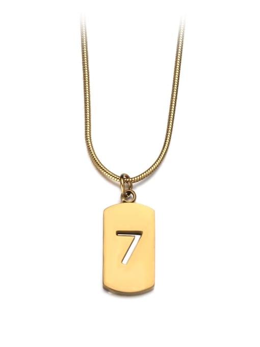 Golden large Titanium Steel Geometric Minimalist Necklace