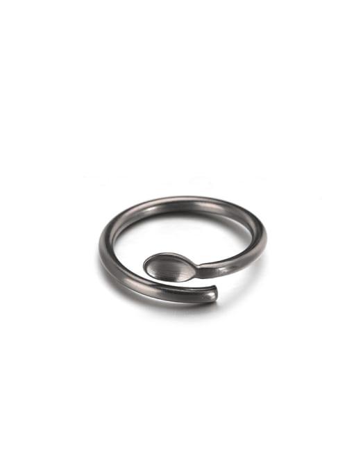 WOLF Titanium Steel Irregular Hip Hop Band Ring 0