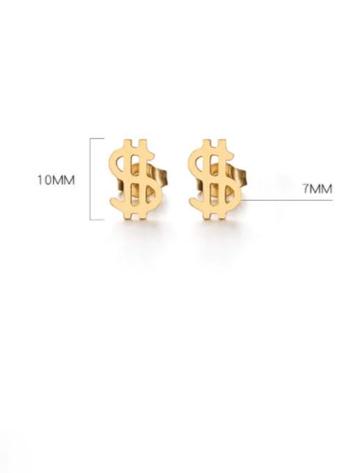 WOLF Titanium Steel Irregular Minimalist Stud Earring 3