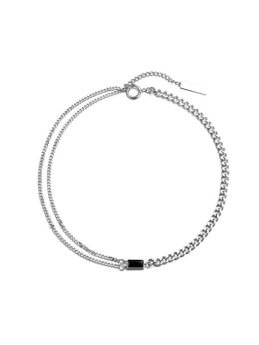WOLF Titanium Steel Geometric Hip Hop Necklace 0