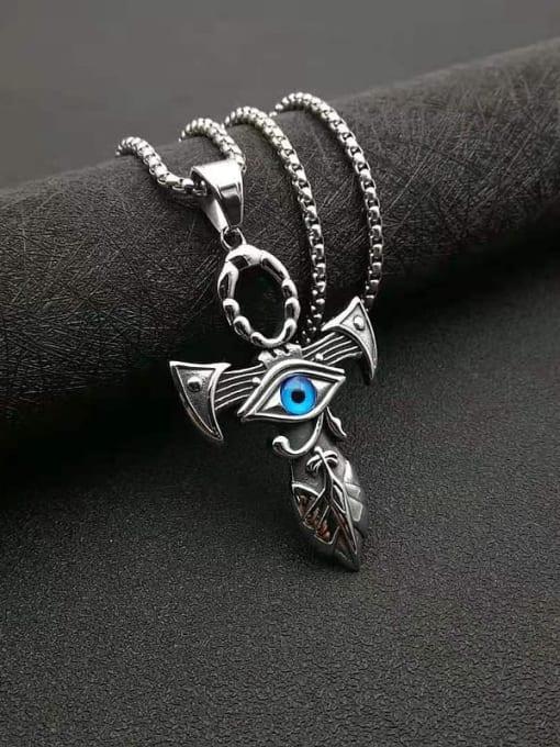 HI HOP Titanium Steel Enamel Cross Vintage Necklace 3