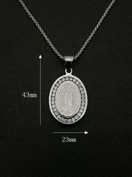 HI HOP Titanium Steel Religious Vintage Necklace 1