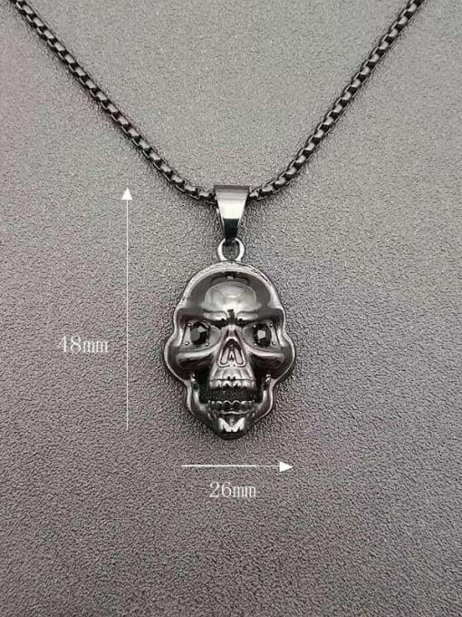 HI HOP Titanium Steel Skull Hip Hop Necklace 1