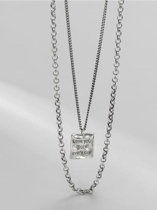ARTTI 925 Sterling Silver Bead Geometric Vintage Multi Strand Necklace 2