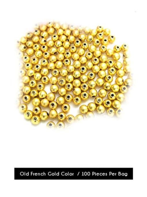 Old French gold Color Brass Round Gold Beads ,from 2mm to 8mm