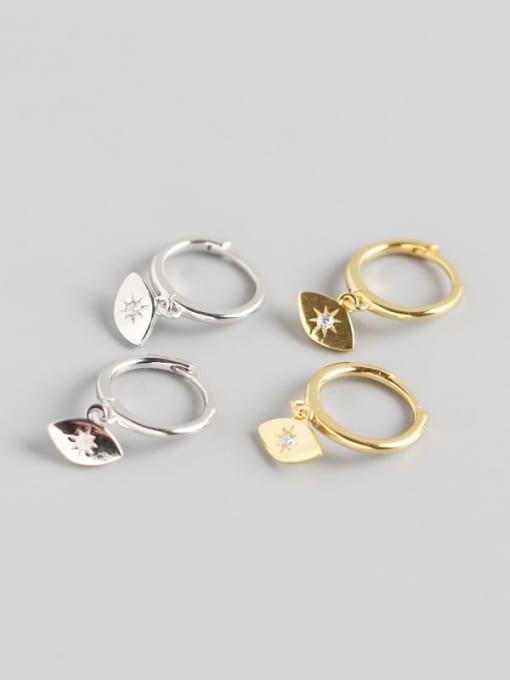 ACE 925 Sterling Silver Geometric Trend Huggie Earring 0