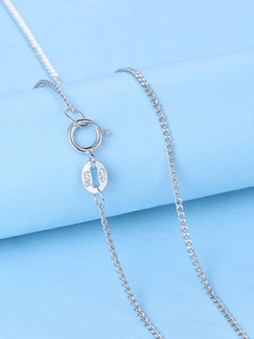 1.0mm#Side chain#40cm 925 Sterling Silver Chains