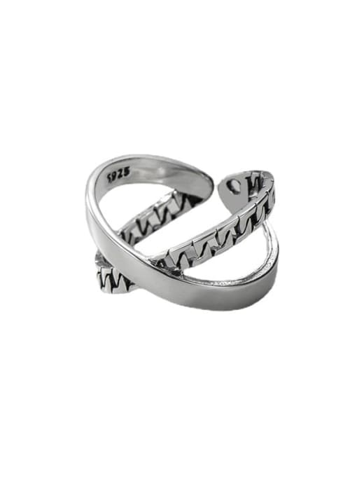 ARTTI 925 Sterling Silver Cross Vintage Stackable Ring 2