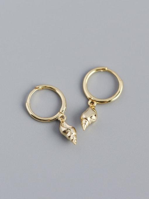 Golden 925 Sterling Silver Rhinestone Irregular Vintage Huggie Earring