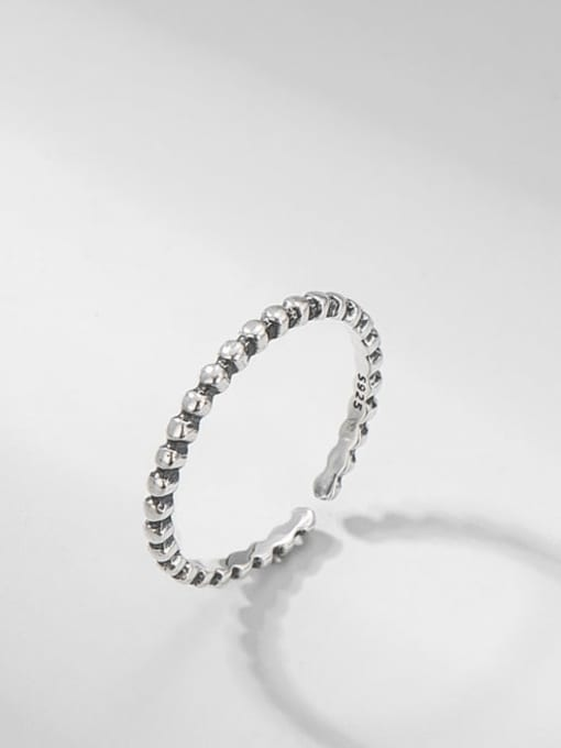 ARTTI 925 Sterling Silver Round Vintage Band Ring